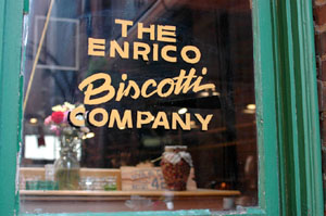 Enrico Biscotti Bakery Window